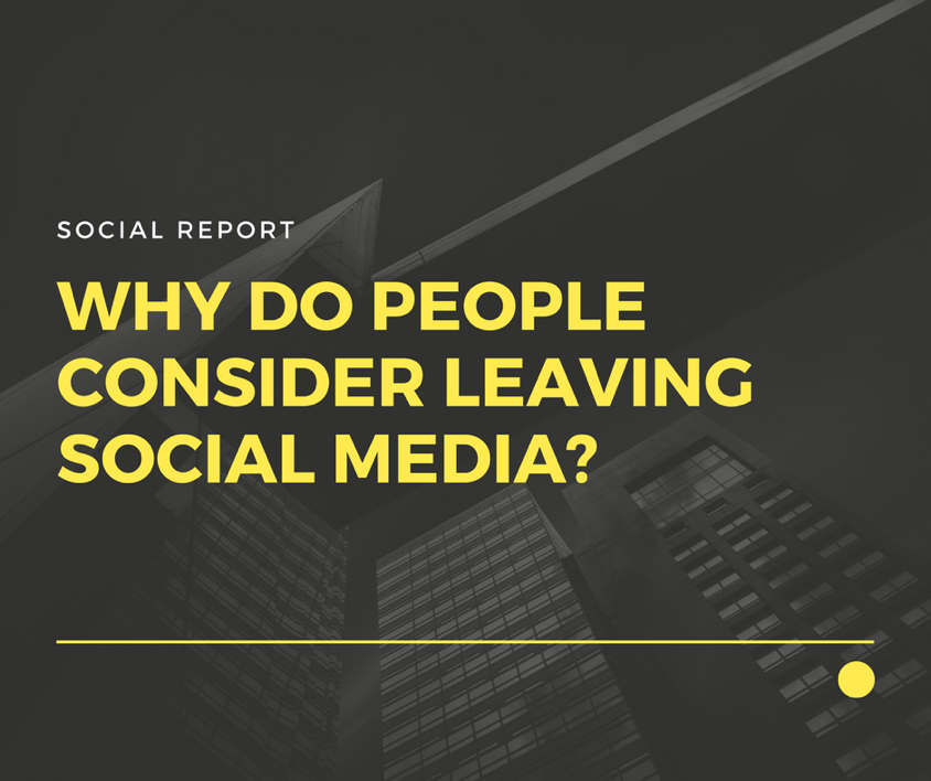 Why People Consider Leaving Social Media