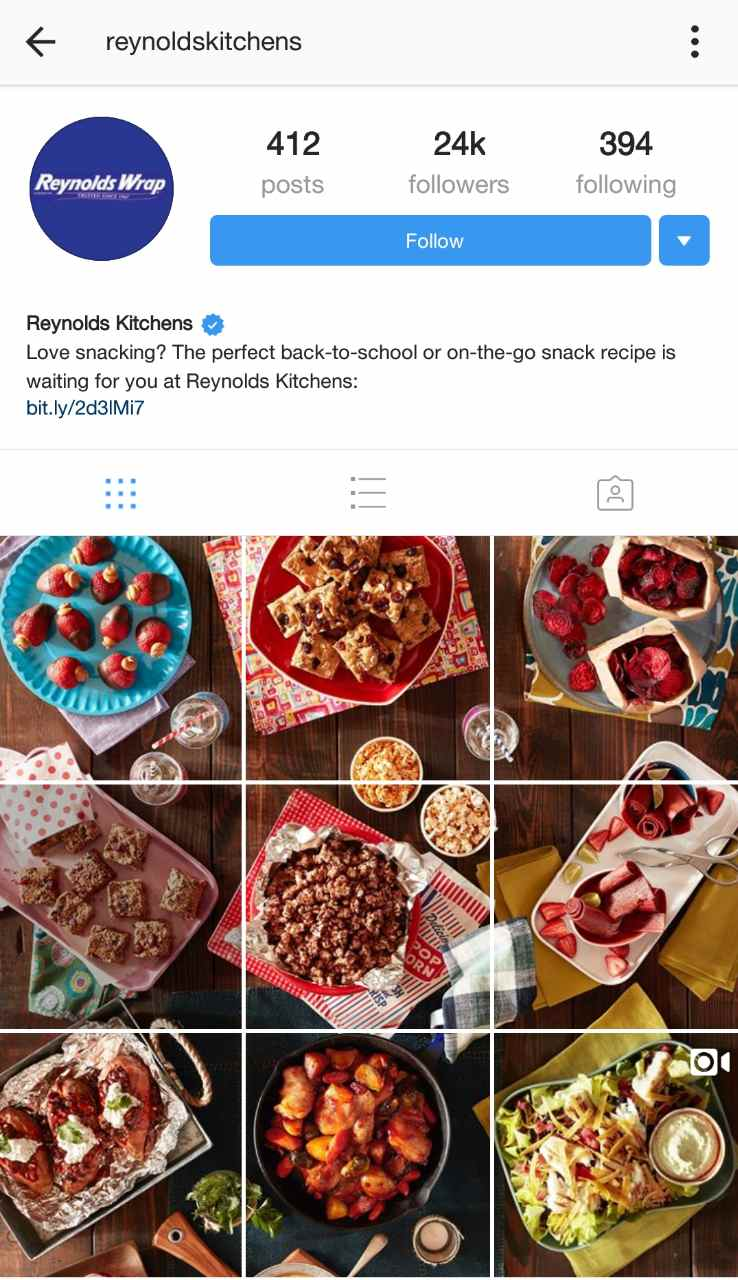 Reynolds Kitchen Instagram
