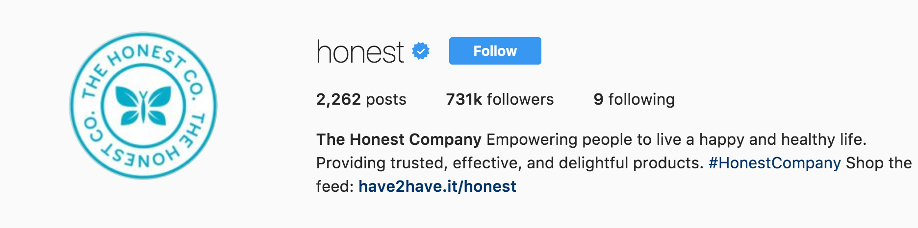 The Honest Company Instagram