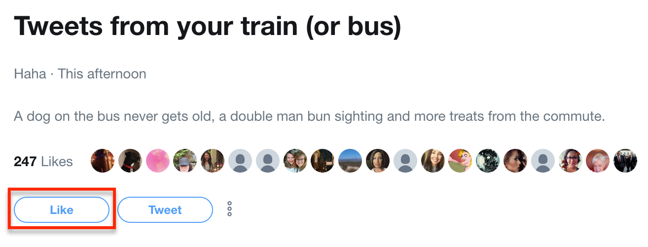 How To Like A Twitter Moment