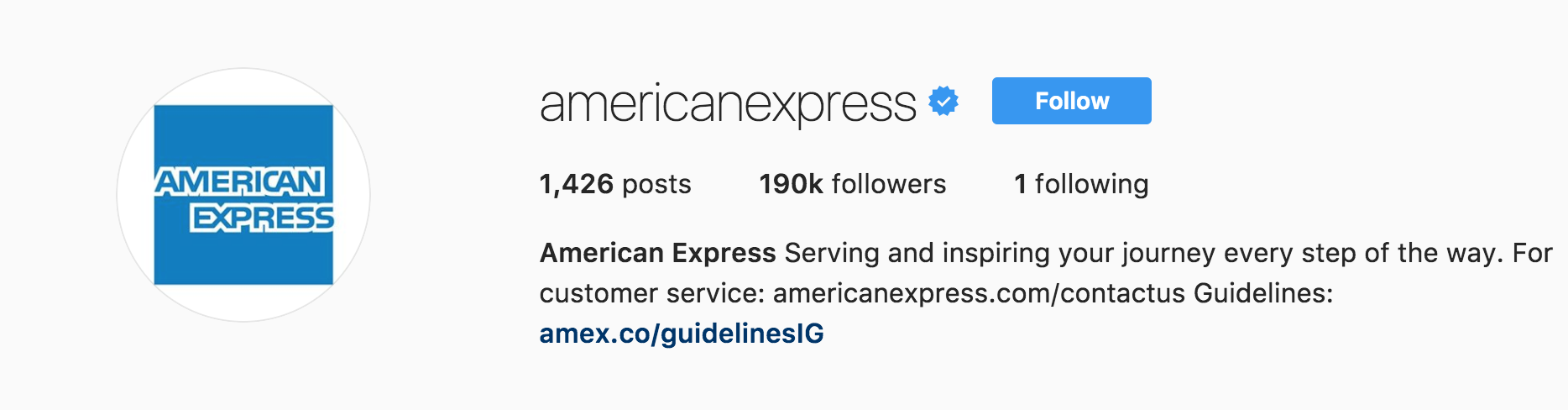 American Express Instagram