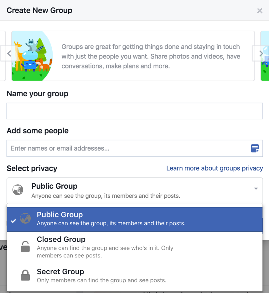 Setting Permissions For Facebook Groups