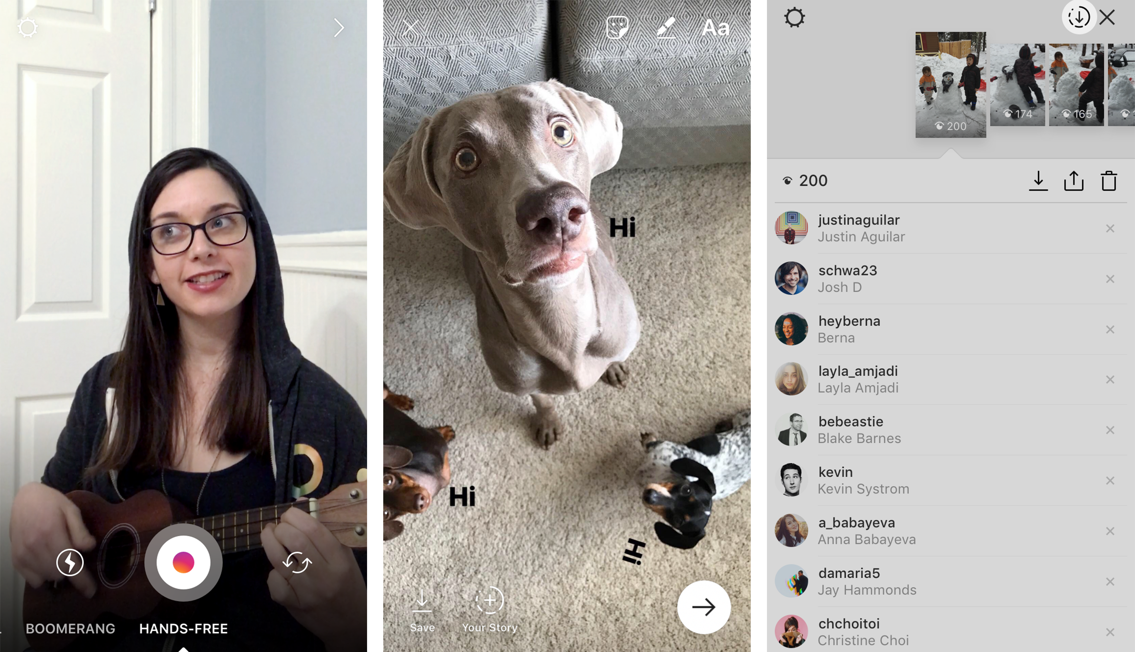 Instagram Record Hands Free Videos
