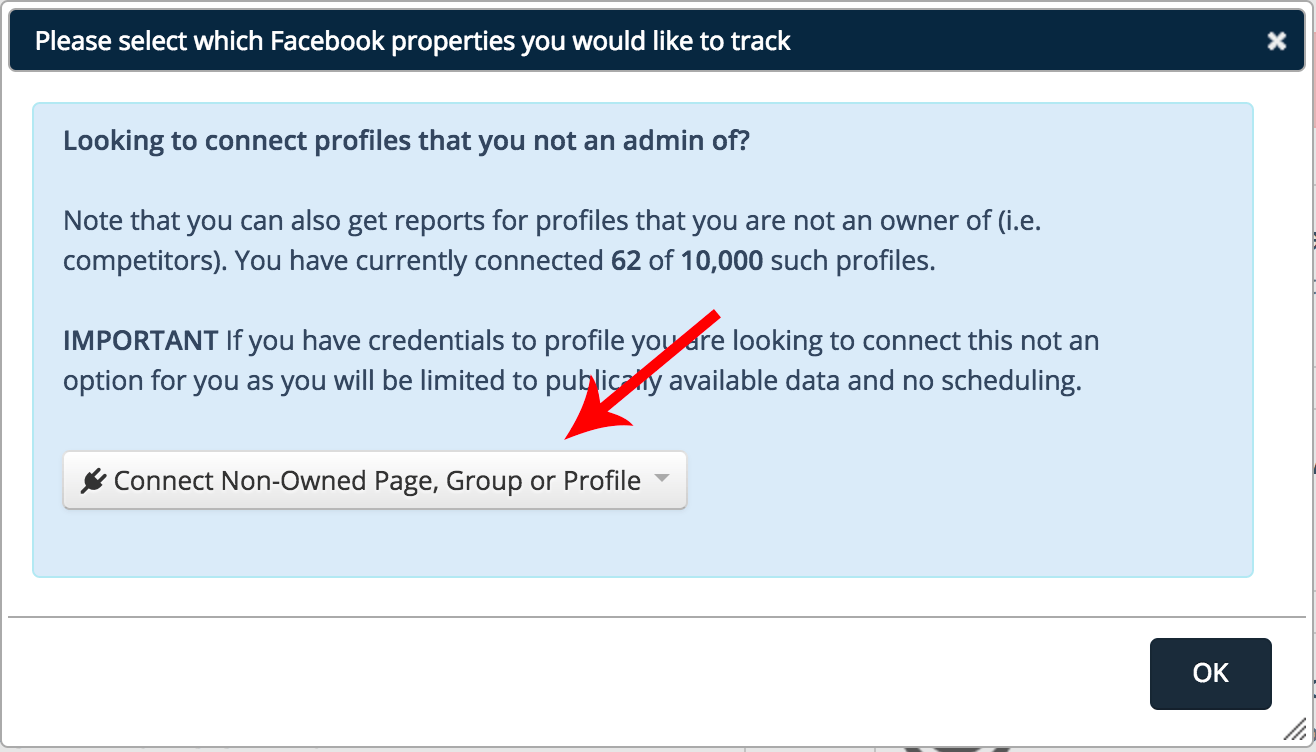Connecting Competitor Profiles Facebook