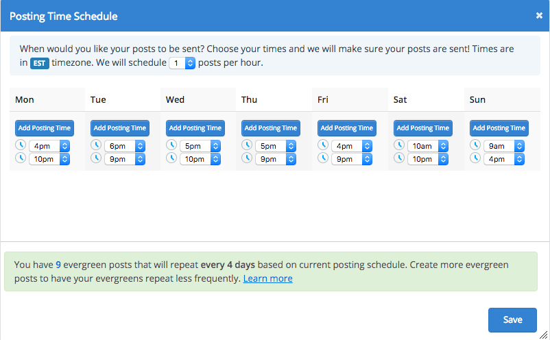 Social Report Post Scheduler