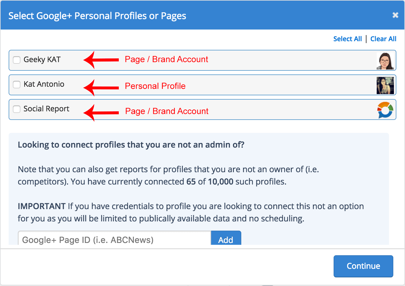 Adding A Google+ Profile/Page