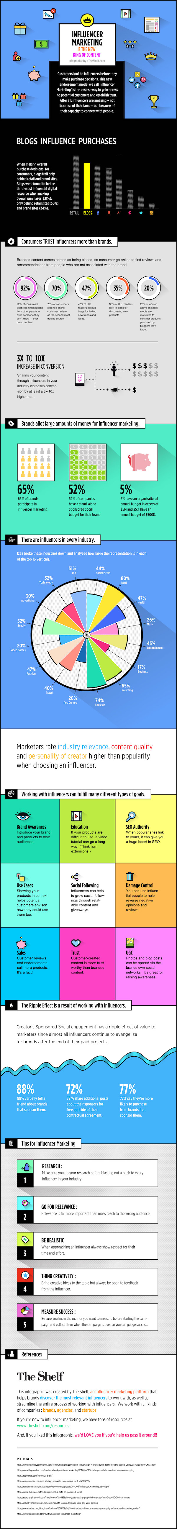 Infographic on Infuencer Marketing