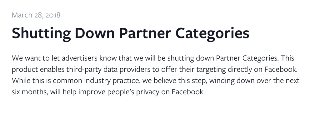 Facebook's Official Statement