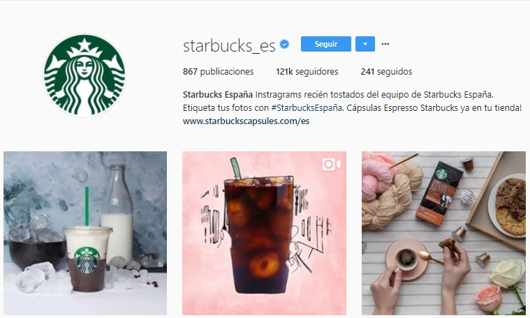 Starbucks Instagram ES