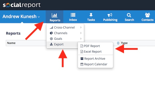 Accessing your social media archive in Social Report