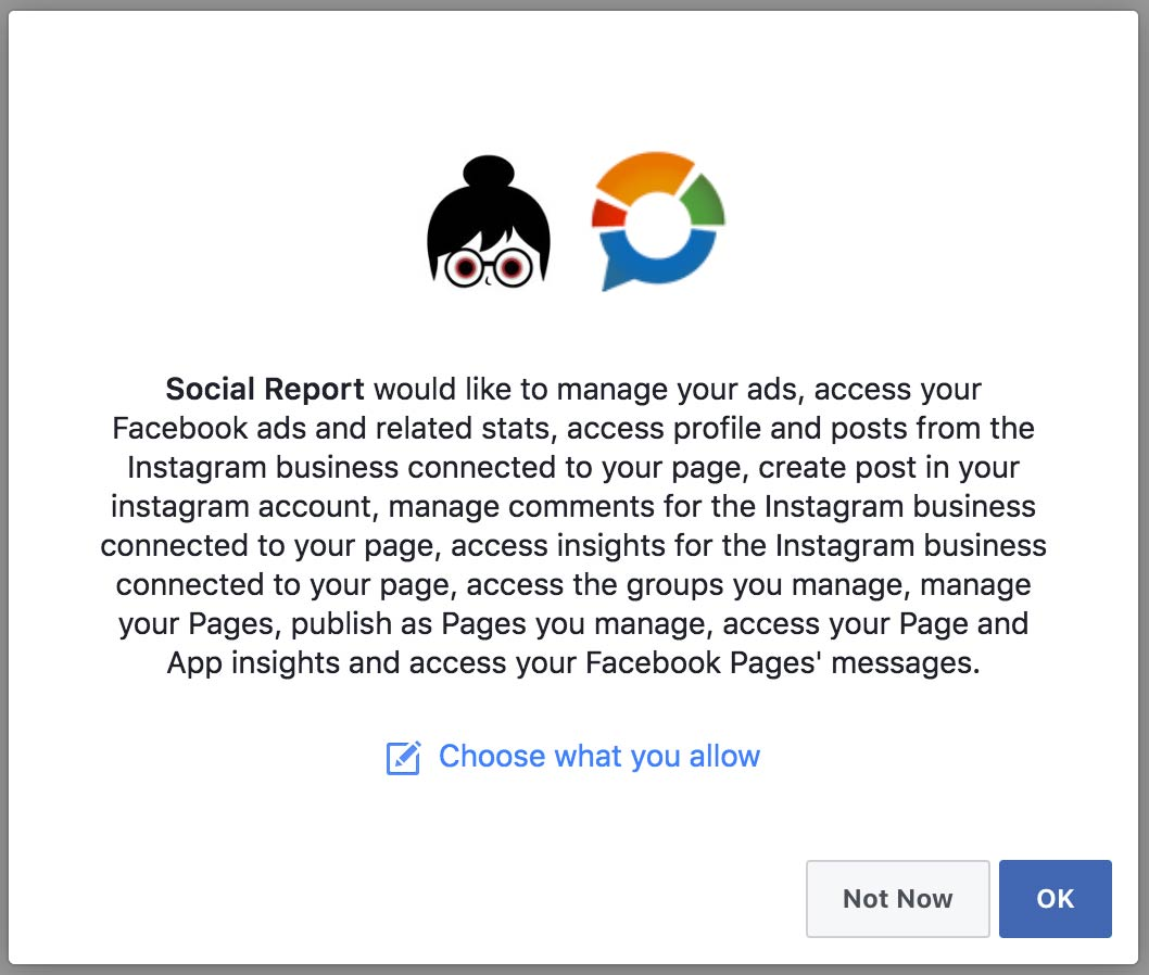 Social Report would like to manage your ads