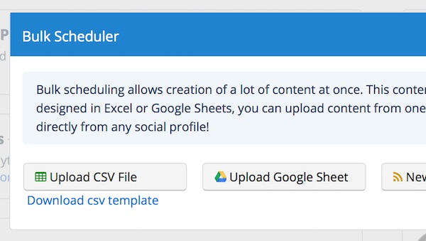 Upload your Social Report CSV file