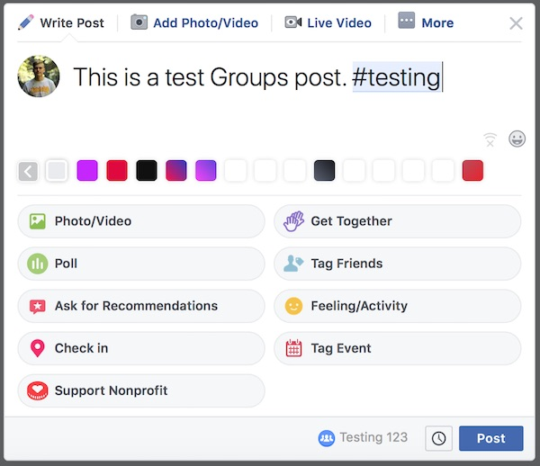 Write a post in your Group