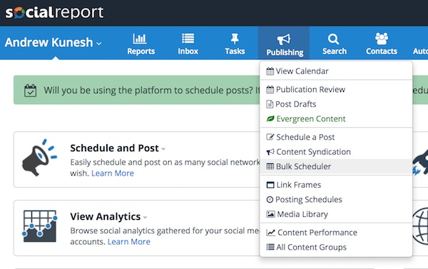 como agendar post facebook social report em 2018