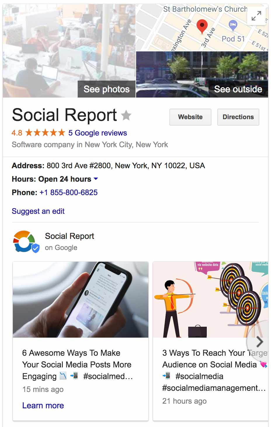 Google My Business Social Report