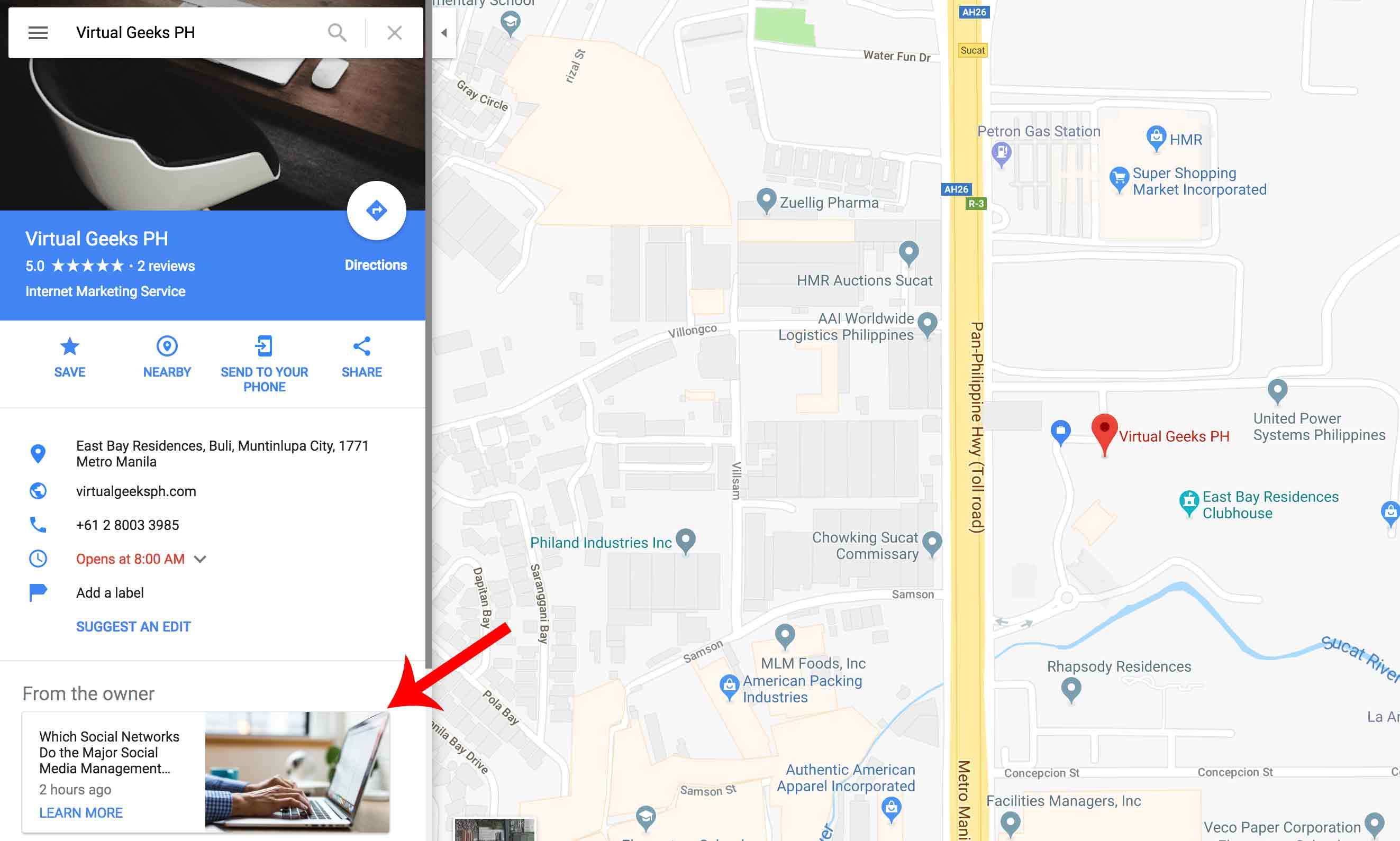 Google My Business Sample