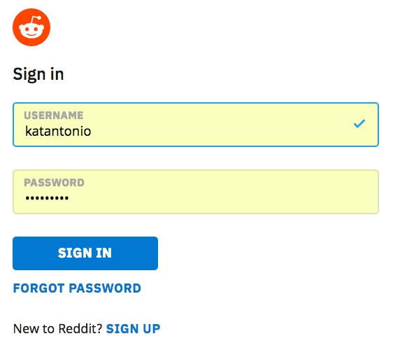 Login to Reddit